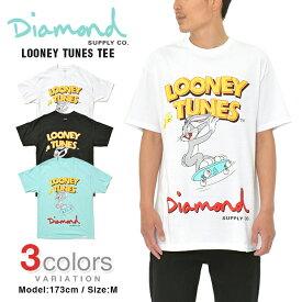 DIAMOND SUPPLY CO × LOONEY TUNES Tシャツ ダイアモンドサプライ BUGS BUNNY バッグスバニー ダイヤモンドサプライ メンズ