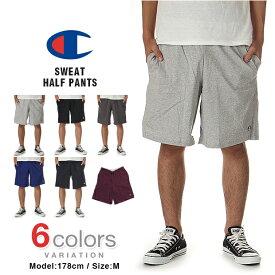 チャンピオン ハーフパンツ CHAMPION ハーフパンツ ショートパンツ メンズ 大きいサイズ USAモデル ショーツ ジムショーツ バスパン ダンス スウェット
