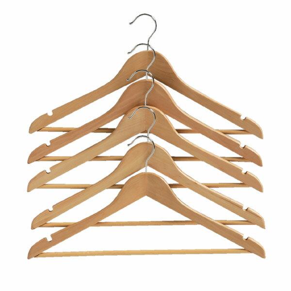 天然木製ハンガー<5本組> MH-5P ナチュラル アイリスオーヤマハンガー 木製 木製ハンガー 洋服ハンガー 衣類ハンガー クローゼット 押入れ 洗濯