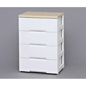 ウッドトップチェスト 4段 HG-554R ホワイト/ナチュラル アイリスオーヤマチェスト 引き出し 収納ボックス 箪笥 タンス 衣類収納 収納 衣替え[ns2]