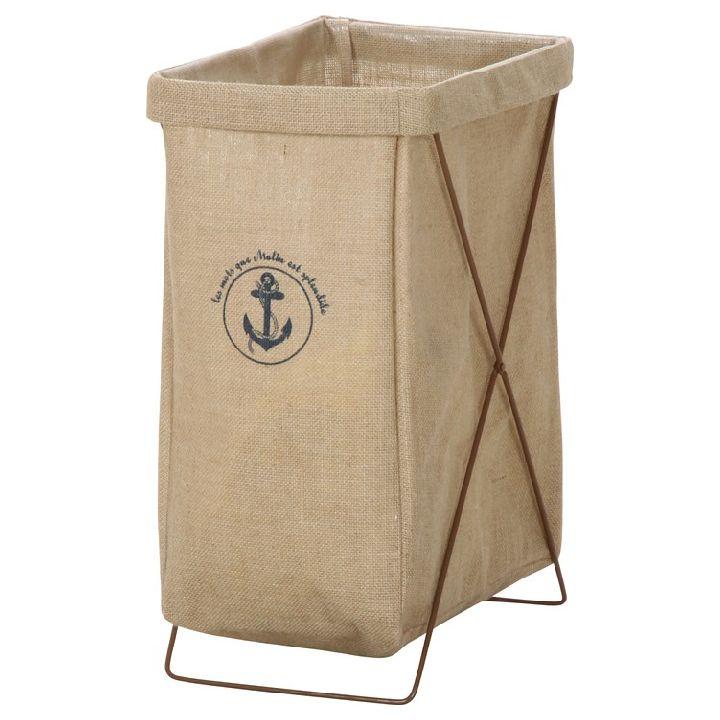 麻ランドリーボックス 縦型 ベージュ 30685ランドリーボックス ランドリーバスケット ランドリーバッグ 脱衣かご 不二貿易 【D】