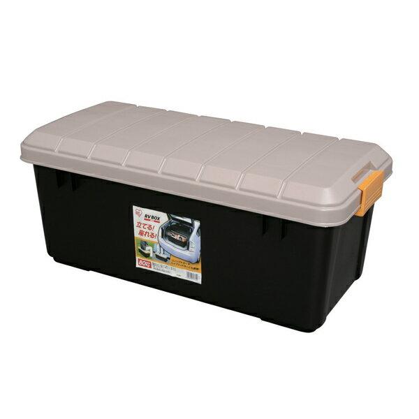 RVBOXエコロジーカラー800 カーキ/ブラック アイリスオーヤマコンテナボックス 蓋付き 収納ボックス RVボックス 収納ケース 工具箱 ガーデン 庭 収納 工具収納[cpir]