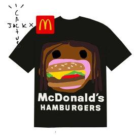 【送料無料】TRAVIS SCOTT MCDONALD'S Cuctus Jack トラビス スコット マクドナルド カクタスジャック CPFM 4 CJ BURGER MOUTH T-SHIRT T Tシャツ ロゴ hiphop ストリート US
