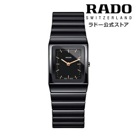 【ラドー 公式】 腕時計 RADO CERAMICA セラミカ クォーツ 22.9×31.7mm ブラック 文字盤 ハイテク セラミック ブレスレット 50m防水レディース腕時計 高級腕時計 社会人 新生活 ビジネス シンプル ブランド