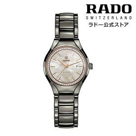 【公式/送料無料】RADO ラドー レディース TRUE AUTOMATIC DIAMONDS トゥルー オートマティック ダイヤモンズ R27243852 自動巻き 機械式 ムーブメント ブラック ハイテク セラミックス ブレスレット ダイヤモンド MOP 時計 スイス オフィシャル