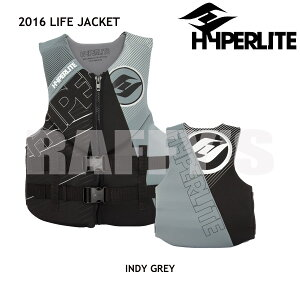 2017 HYPERLITE ハイパーライト ウェイクボード ライフジャケット INDY NEO VEST GREY