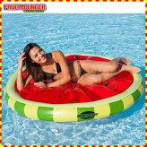 フローティングアクアラウンジフルーツ柄水上マット水遊び浮輪1人用