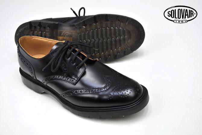 Solovair / ソロヴェアー 4Eye Derby Brogue Shoe(Hi-Shine) 【送料無料】