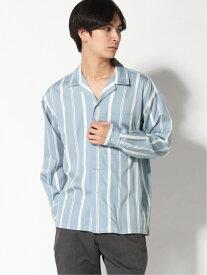 【SALE/35%OFF】(M)カイキンストライプシャツLS RAGEBLUE レイジブルー シャツ/ブラウス 長袖シャツ ブルー ブラック ベージュ【RBA_E】[Rakuten Fashion]
