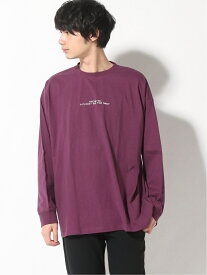 [Rakuten Fashion]【SALE/34%OFF】(M)プリントロンT RAGEBLUE レイジブルー カットソー Tシャツ パープル ブラック ベージュ ホワイト ブルー【RBA_E】