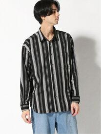 【SALE/40%OFF】(M)TRストライプシャツ RAGEBLUE レイジブルー シャツ/ブラウス 長袖シャツ ブラック ブラウン【RBA_E】[Rakuten Fashion]