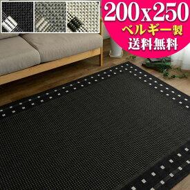 北欧 風 ラグ 3畳 じゅうたん おしゃれ な カーペット 200×250cm 長方形 通販 送料無料 サマーラグ 絨毯 シンプル ラグマット 薄手 リビング ダイニング