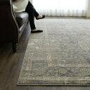 絨毯 2畳 用 アンティーク 風 ラグ 200×200cm おしゃれ カーペット 柄 ウィルトン織り ヴィンテージ 送料無料 じゅうたん ラグマット