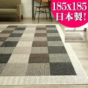 ラグ 抗菌 防ダニ 防臭 カーペット リビング 日本製 無地 185×185 約 2畳 洗える ラグマット 正方形 絨毯 送料無料 ウォッシャブル じゅうたん