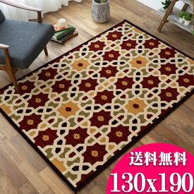 ラグ アンティーク 風 絨毯 ウィルトン織 レトロ 130×190 スペイン絨毯 じゅうたん マルチ レッド 絨毯 1.5畳北欧 おしゃれ カーペット 長方形 長方形 リビング