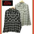 FULLCOUNT/フルカウント4995シャツ長袖レーヨンオンブレチェックシャツ