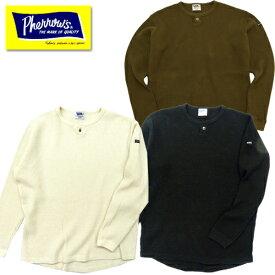 Pherrow's フェローズ 19W-PBWT1 ビッグワッフルヘンリーネックロンT Tシャツ 長袖 サーマル インナー