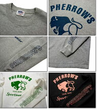 Pherrow'sフェローズ18S-PLT2バッファローロゴプリントロンT長袖Tシャツ