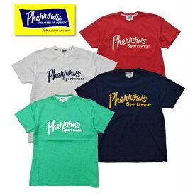 【1枚までレターパックライト対応】Pherrow's フェローズ 19S-PT1 Tシャツ プリント ロゴ 定番
