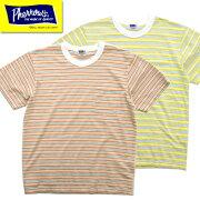 フェローズPherrow'sTシャツ21S-PBPT1ボーダー半袖プリントポケット付きTシャツポケTコットンパイル2021年春夏新作アメカジ