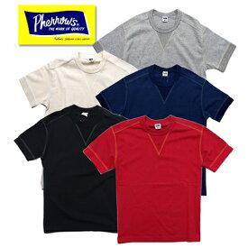 【1枚までレターパック対応】Pherrow's フェローズ PCT1-S Vガゼット付き半袖Tシャツ TEE 定番