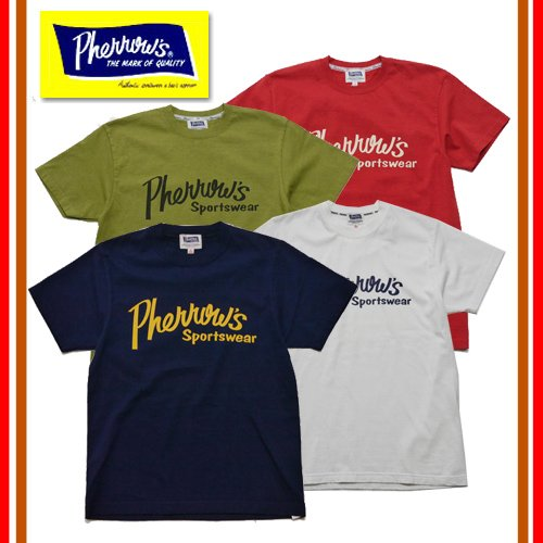 Pherrow's フェローズ 17S-PT1 Tシャツ プリント ロゴ 定番