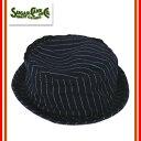 (★クーポン発行)SUGAR CANE シュガーケーン SC02467 WABASH STRIPE PORKPIE HAT ポークパイハット 帽子 小物 ウォバッシュ…