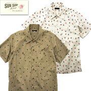 サンサーフSUNSURFコットンアロハシャツハワイアンシャツSS38406HULA&PALMTREECOTTONTWILLREGULARCOLLARSHIRTレギュラーカラーシャツ