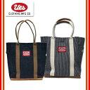 (★クーポン発行)UES/ウエス 801601M 革コンビトートバッグ ヒッコリーストライプ デニム Mサイズ 鞄
