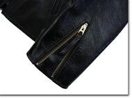 (44(XXL)サイズ)Y'2LEATHERワイツーレザーPR-65VINTAGEHORSElight襟付きシングルライダースレザー革ライダースジャケット