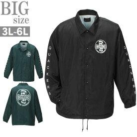 コーチジャケット 大きいサイズ メンズ DUCKDUDE by B-ONE-SOUL ナイロンジャケット C301225-02