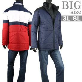 中綿ジャケット 大きいサイズ メンズ 冬アウター バイカラー 配色 H by FIGER C010926-04
