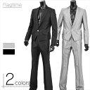 スーツ メンズ ドレススーツ フォーマル スリム 光沢 サテン キレイめ デザイン 1B トラッド V260128-07