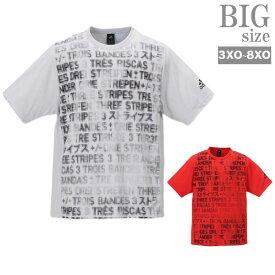 大きいサイズ メンズ adidas おしゃれ プリントtシャツ かすれプリント Tシャツ アディダス C010612-15