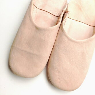 Morocco simple Babouche plain natural indoor slippers slippers • room shoes / Morocco gadgets