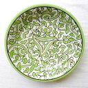 モロッコ 陶器 お皿 15 プレート 皿 フェズ ディッシュ モロッコ雑貨 食器 グリーン お洒落 おしゃれ 可愛い かわいい…
