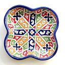 モロッコ 陶器 お皿 19 プレート 皿 フェズ ディッシュ モロッコ雑貨 食器 お洒落 おしゃれ 可愛い かわいい 洋食器 …
