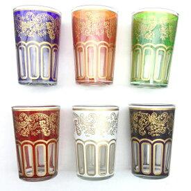 モロッコ ミントティーグラス Mサイズ/トラディショナル 耐熱グラス グラス チャイ ハーブティー モロッコ雑貨 食器 おしゃれ かわいい ギフト プレゼント