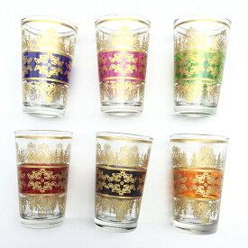 モロッコ ミントティーグラス アラベスク 耐熱グラス グラス チャイ ハーブティー モロッコ雑貨 食器 おしゃれ かわいい ギフト プレゼント