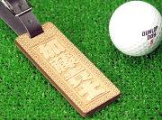 ゴルフキャディバッグ用ネームプレート・ネームタグ千社札風名札【木製】