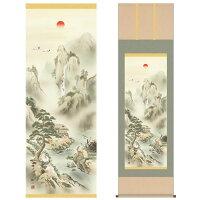 掛け軸:山水画(蓬莱四神吉相図)