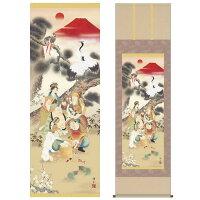 掛け軸:縁起画(吉祥七福満願図)
