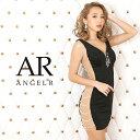 AngelR エンジェルアール[サイドパールビジューデザインタイトミニドレス]ミニドレス タイト ノースリーブ ビジュー …