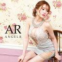 AngelR エンジェルアール[デコルテビジューアッパーレースタイトミニドレス]ミニドレス タイト ノースリーブ ビジュー…
