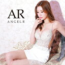 AngelR エンジェルアール[アッパーレース&ビジュータイトミニドレス]ミニドレス タイト ノースリーブ ビジュー 細い …