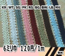 ★6mm巾ブレード(トリミングレース)★1m〜★【カルトナージュ 材料】【RCPdec18】