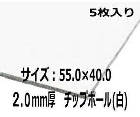 カルトナージュ 白ボール 2mm厚 55×40cmサイズ 5枚入り 材料 厚紙 カルトン