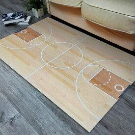デザインマット リアル バスケットボールのコート (小サイズ)