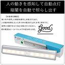 LED 人感センサーライト 10灯 2個セット 人感 LED センサーライト 小型 感知式 乾電池フットライト 貼り付け型 廊下 階段の上下 台所…