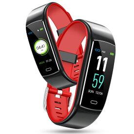 スマートウォッチ 活動量計 心拍計 歩数計 IP67防水 USB充電式 長い待機 IOS Android メール line 着信通知 睡眠検測 アラーム スポーツ腕時計 リストバンド ウェアラブル端末 ウェアラブルデバイス スマートブレスレット